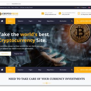 Cryptopress Cryptocurrency Website Template