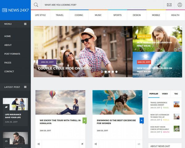 News24x7 News Website Template